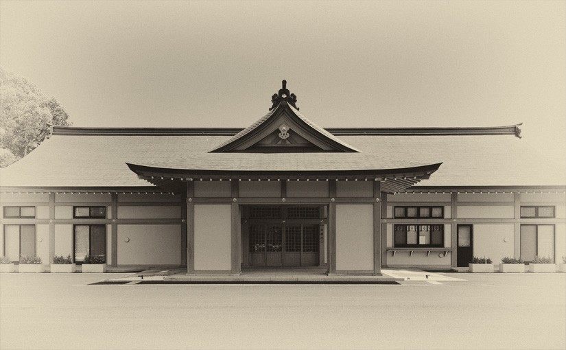 An authentic Japanese building