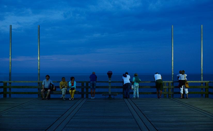 Summer night pier